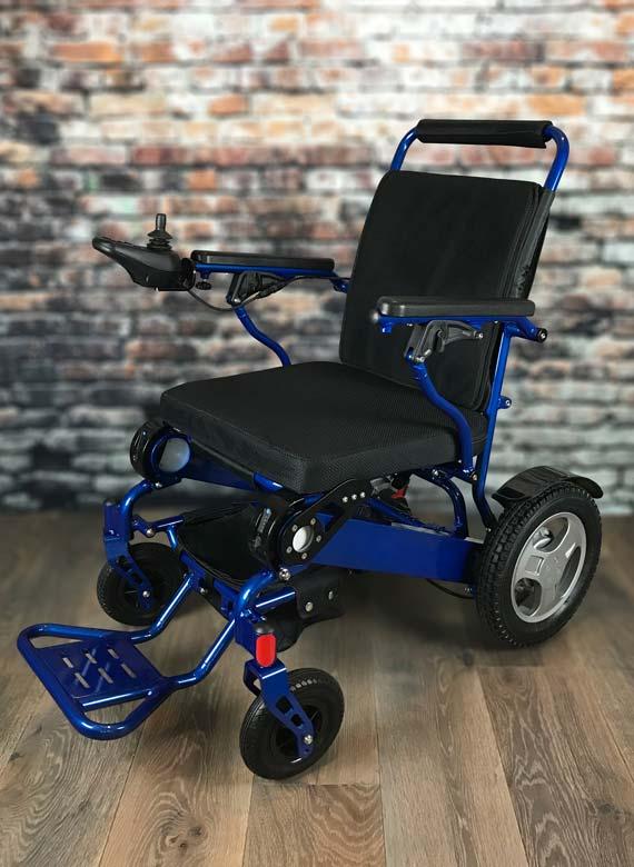 Previous & Heavy-Duty FOLD u0026 GO Electric Wheelchair (Blue)