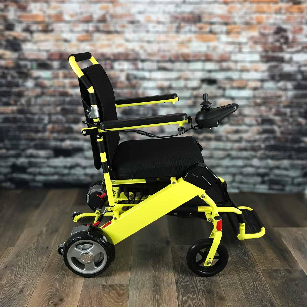 Fabulous Regular Fold Go Electric Wheelchair Yellow Bralicious Painted Fabric Chair Ideas Braliciousco