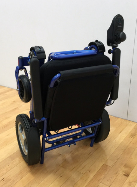 Electric Motor Scooter >> Heavy-Duty FOLD & GO Electric Wheelchair (Blue)